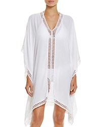 Tommy Bahama Lace Trim Tunic Swim Cover Up White