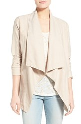Women's Nydj Cotton Blend Cascade Front Jacket Natural