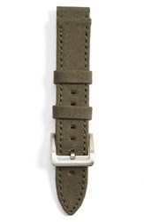Men's Filson Tin Cloth And Leather Watch Strap