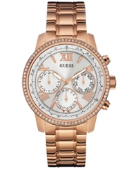 Guess Women's Rose Gold Tone Stainless Steel Bracelet Watch 42Mm U0559l3