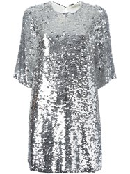 Amen Sequined Dress Metallic