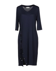 Baroni Knee Length Dresses Dark Blue