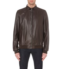 Salvatore Ferragamo Reversible Leather And Shell Jacket Brown