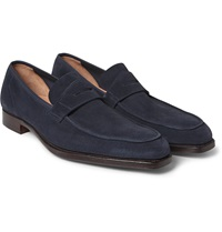 George Cleverley George Suede Penny Loafers