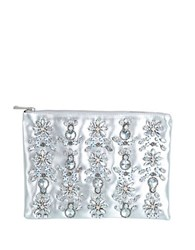 Miss Selfridge Embellished Metallic Faux Leather Clutch