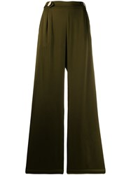 Mother Of Pearl Bridget Flared Trousers Green