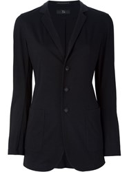 Y's Notched Lapel Blazer Black
