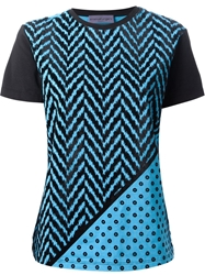 Emanuel Ungaro Abstract Print T Shirt Blue
