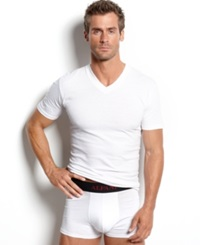 Alfani Men's Underwear V Neck T Shirt 4 Pack White