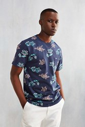 Urban Outfitters Uo Printed Pocket Tee Navy