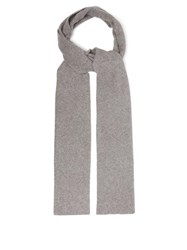 Allude Ribbed Cashmere Blend Scarf Grey