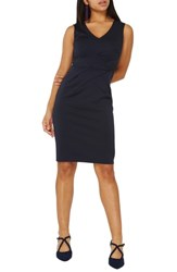 Dorothy Perkins Scuba Pencil Dress Navy