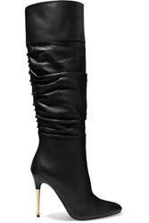 Tom Ford Leather Over The Knee Boots Black
