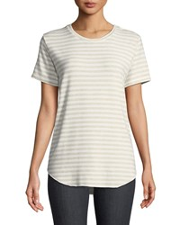 Majestic Asymmetric Cotton Tee Medium Beige