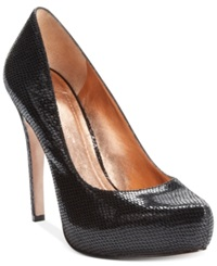Bcbgeneration Parade Platform Pumps Women's Shoes Black Snake