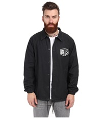Deus Ex Machina Coach Jacket Jet Black Men's Coat