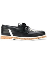 Jimmy Choo Finn Boat Shoes Black