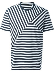 Z Zegna Striped T Shirt White