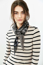 Urban Outfitters Dye Effect Knit Mix Skinny Scarf Grey Multi
