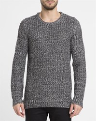 Revolution Grey Mix 6439 Wool Blend Knitted Round Neck Sweater