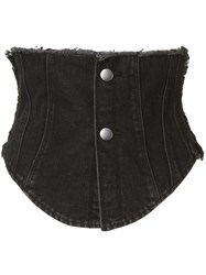 Ground Zero Denim Corset Black