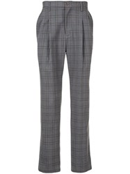 Loveless Checked Trousers Grey