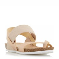 Head Over Heels Laury Elastic Strap Sandals Rose Gold