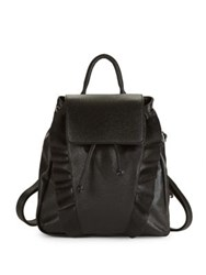 Design Lab Lord And Taylor Ruffled Backpack Black