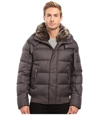 Marc New York Rockingham Down Bomber With Removable Faux Fur Collar And Removable Hood Fog Men's Coat Gray