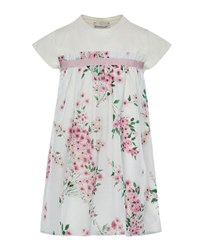 Moncler Mini Me Floral Woven And Jersey Dress Multi