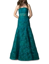 Basix Ii Strapless Lace Gown Green