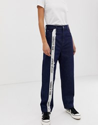 House Of Holland Taped Mom Jeans Blue