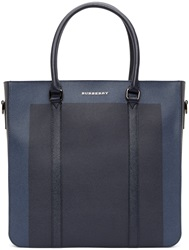 Burberry Blue And Navy Kenneth Tote Bag