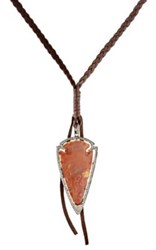 Feathered Soul Women's Directions Pendant Necklace Brown Orange No Color Brown Orange No Color