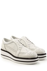 Hogan Leather Brogues With Platforms