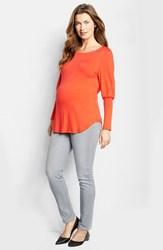 Women's Maternal America Drape Back Maternity Top Red
