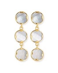 Dina Mackney Triple Mother Of Pearl Drop Earrings White