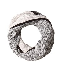 Cole Haan Marl Stripe Neckwarmer Black Ivory Grey Scarves Multi