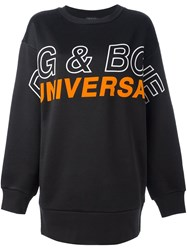 Rag And Bone Oversized Logo Print Sweatshirt Black