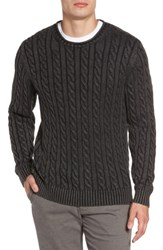 Rodd And Gunn Men's Landray Cable Knit Cotton Sweater Charcoal