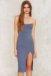 Keep Your Cool Strapless Dress Blue