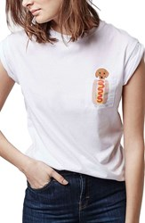 Women's Topshop By Tee And Cake Hot Dog Pocket Tee