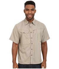 Mountain Khakis Trail Creek Short Sleeve Shirt Truffle Men's Clothing Brown