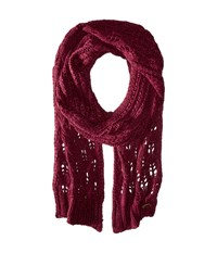 Roxy Let Me Ride Knit Scarf Burgundy Scarves