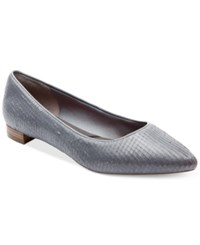 Rockport Women's Total Motion Adelyn Pointed Toe Flats Women's Shoes Icy Blue
