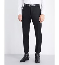 Dsquared2 Admiral Regular Fit Embellished Wool And Silk Blend Trousers Black