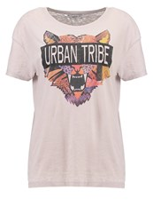 Only Onlamber Tiger Print Tshirt Opal Gray Light Grey