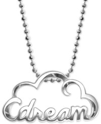 Alex Woo Dream Cloud Pendant Necklace In Sterling Silver