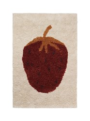 Ferm Living Fruiticana Tufted Strawberry Rug Small 2 Ft 7.5 In X 3 Ft 11 In