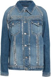 Frame Studded Denim Jacket Mid Denim